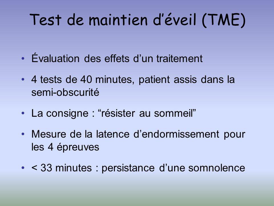 Test de maintien d'éveil (TME)