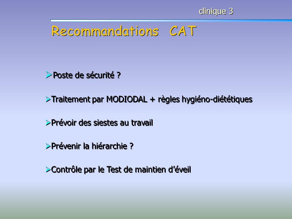 Recommandations CAT Poste de sécurité clinique 3