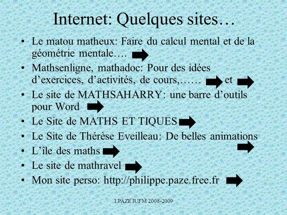 Internet: Quelques sites…
