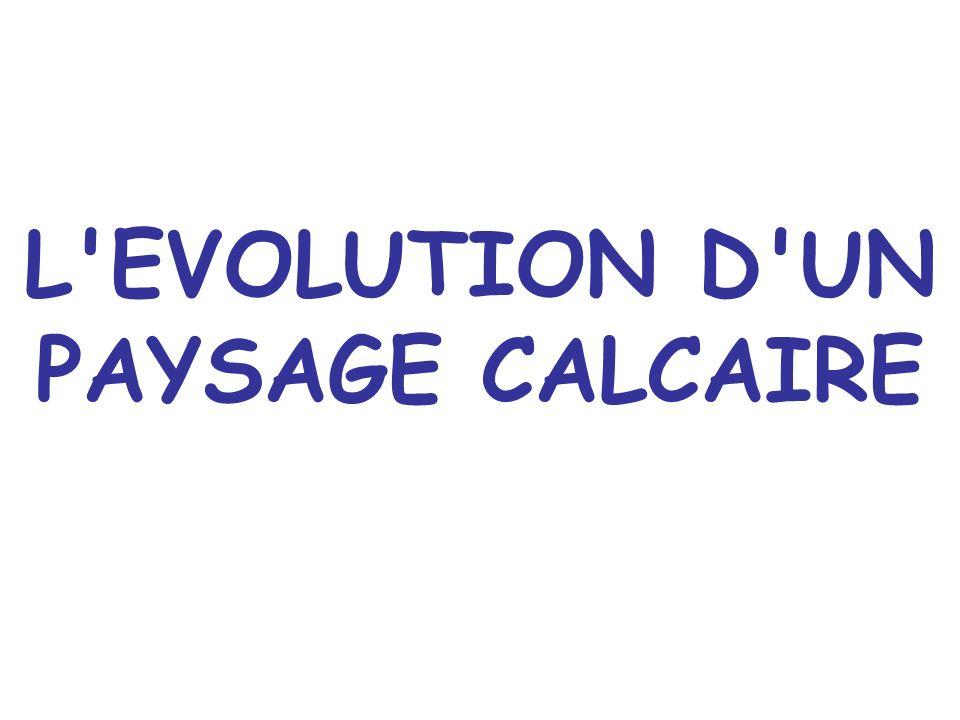 L EVOLUTION D UN PAYSAGE CALCAIRE