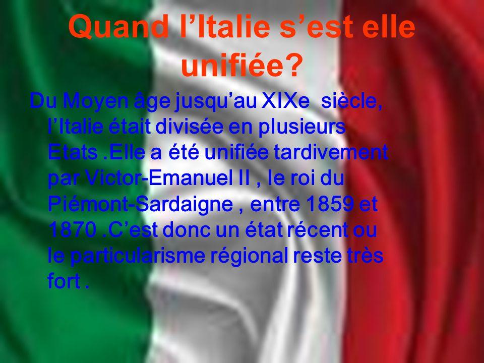 Quand l'Italie s'est elle unifiée