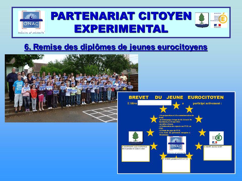 6. Remise des diplômes de jeunes eurocitoyens