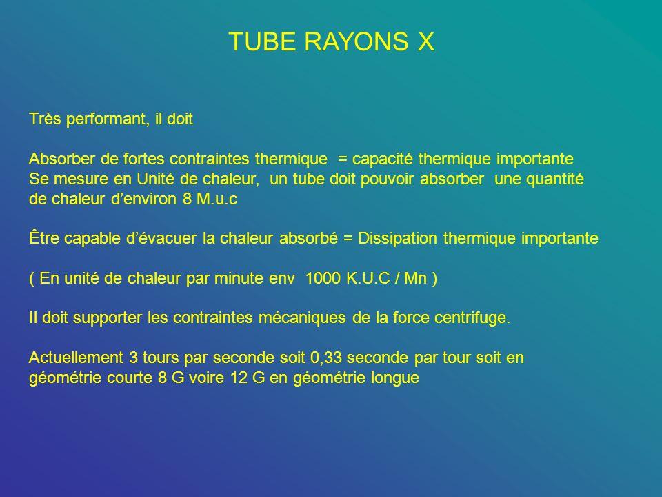TUBE RAYONS X Très performant, il doit