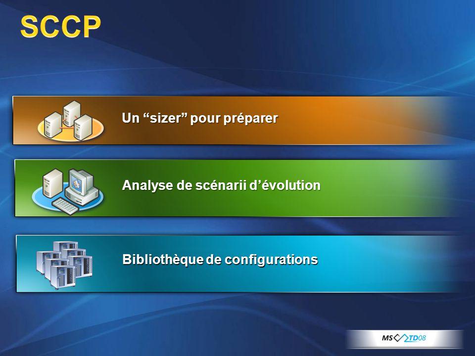 SCCP Un sizer pour préparer Analyse de scénarii d'évolution