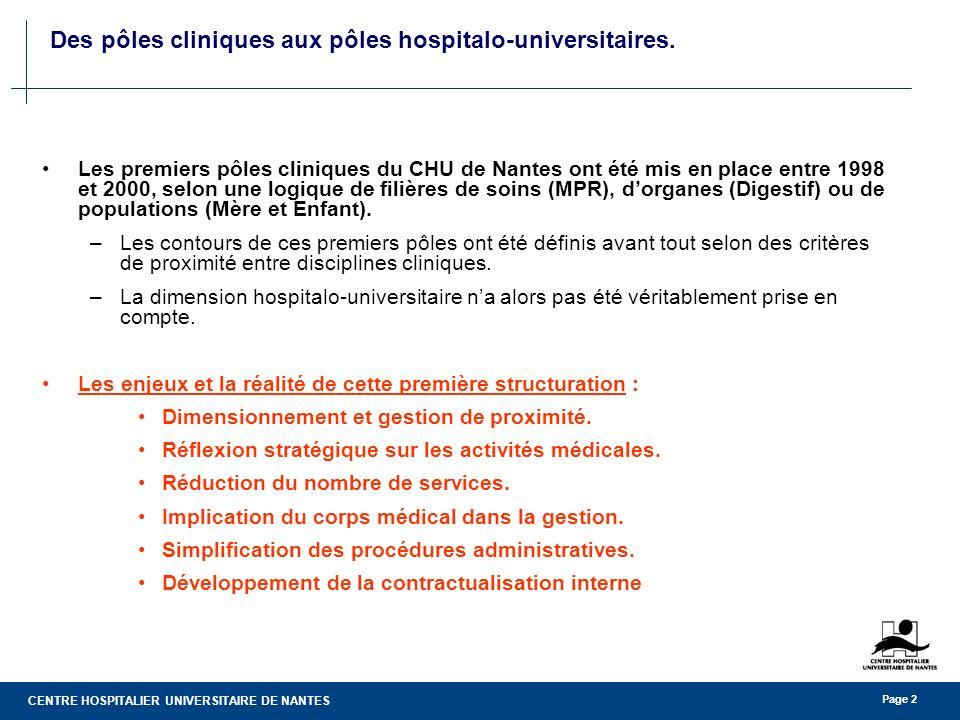 Des pôles cliniques aux pôles hospitalo-universitaires.
