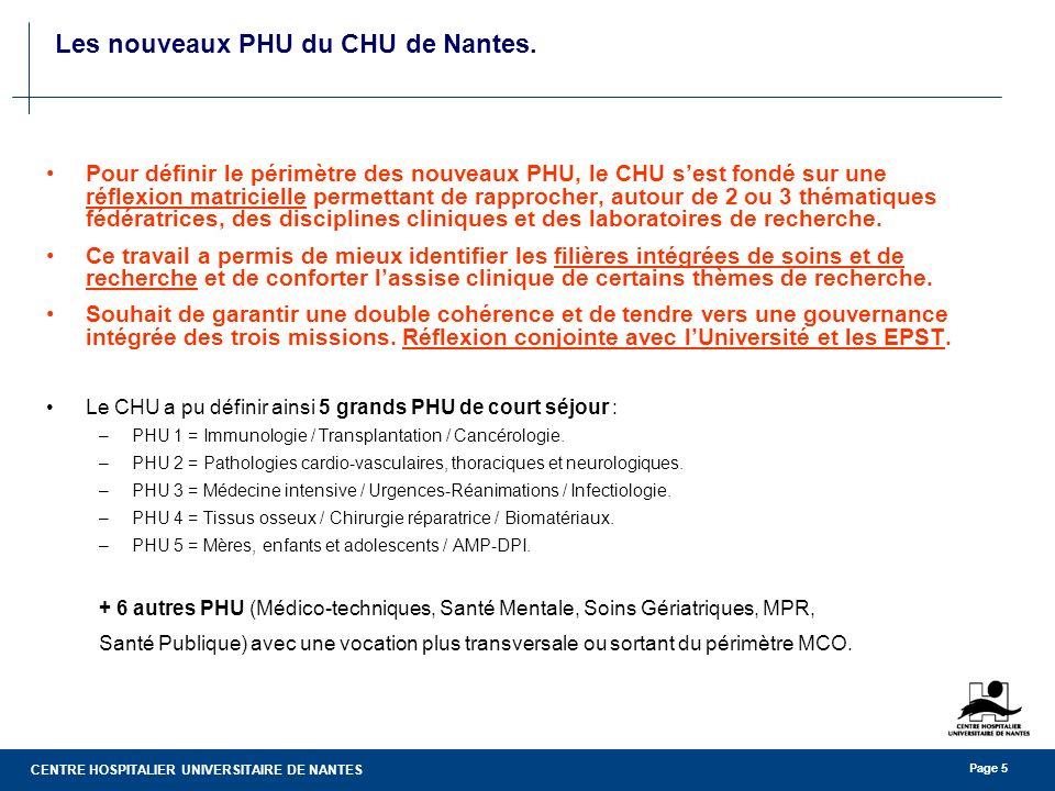 Les nouveaux PHU du CHU de Nantes.