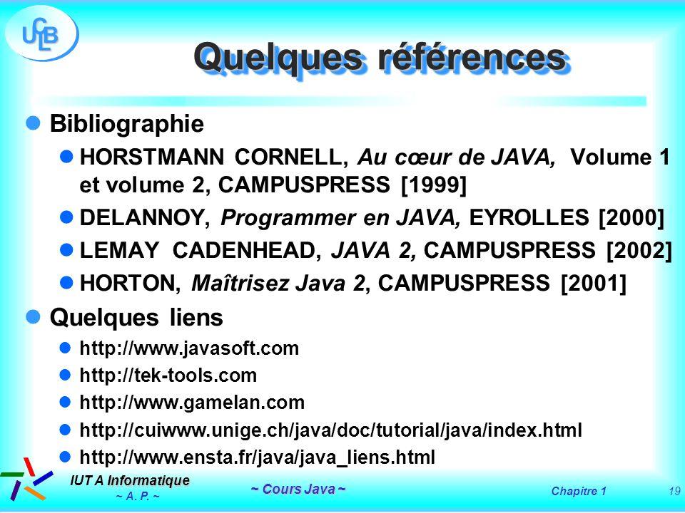 Quelques références Bibliographie Quelques liens
