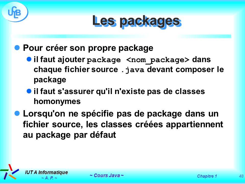 Les packages Pour créer son propre package
