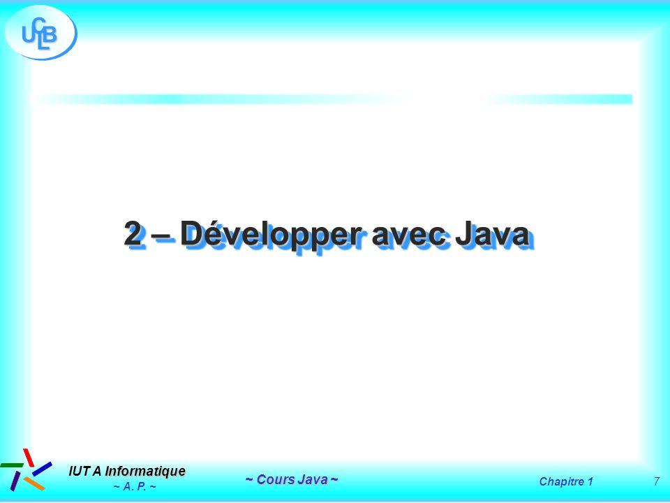 2 – Développer avec Java ~ A. P. ~