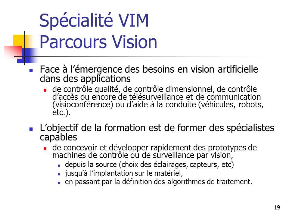 Spécialité VIM Parcours Vision