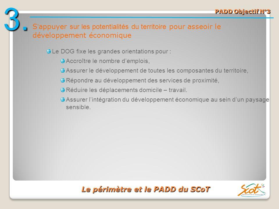 Le périmètre et le PADD du SCoT