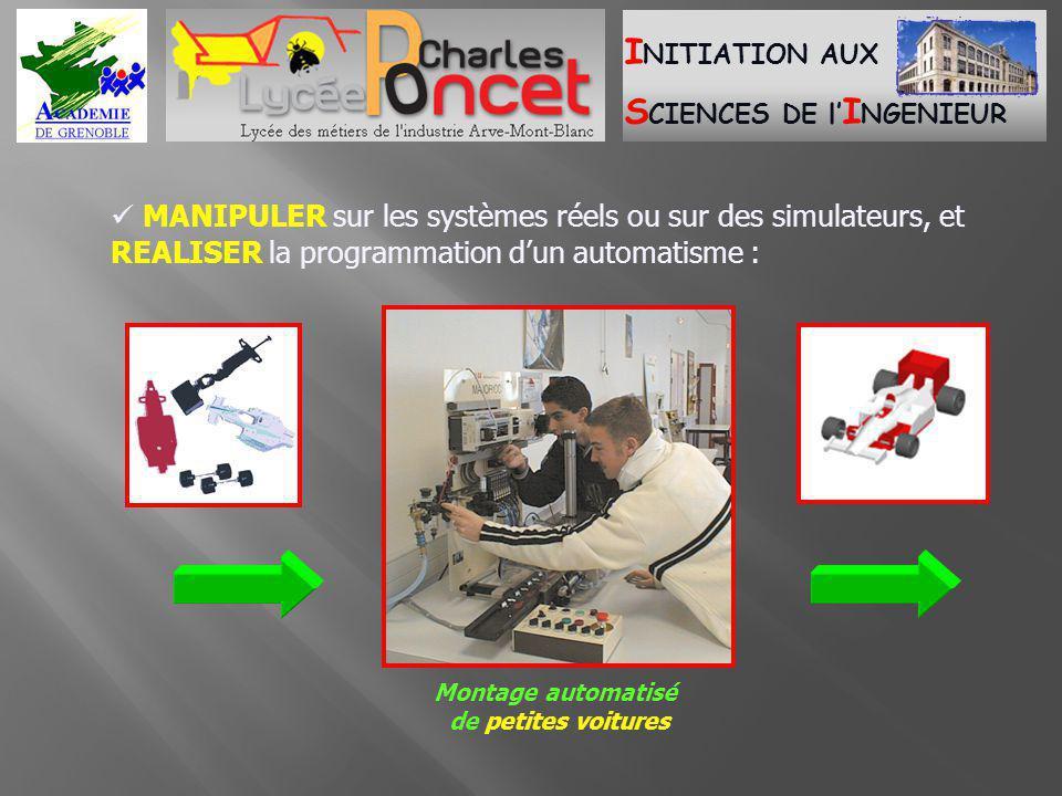  MANIPULER sur les systèmes réels ou sur des simulateurs, et REALISER la programmation d'un automatisme :