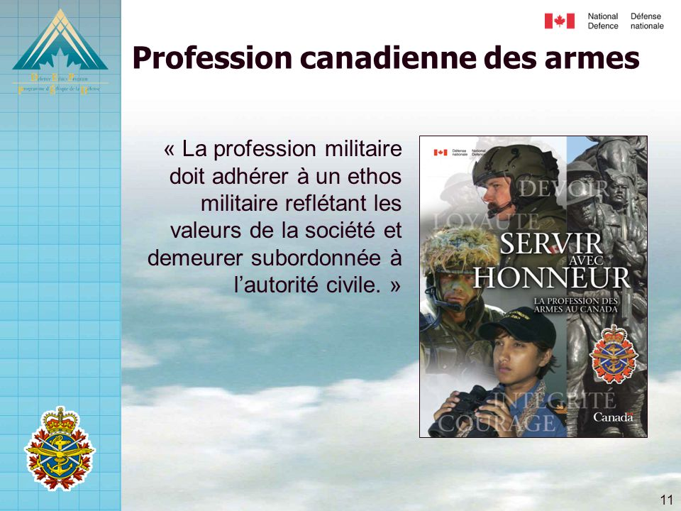 Profession canadienne des armes
