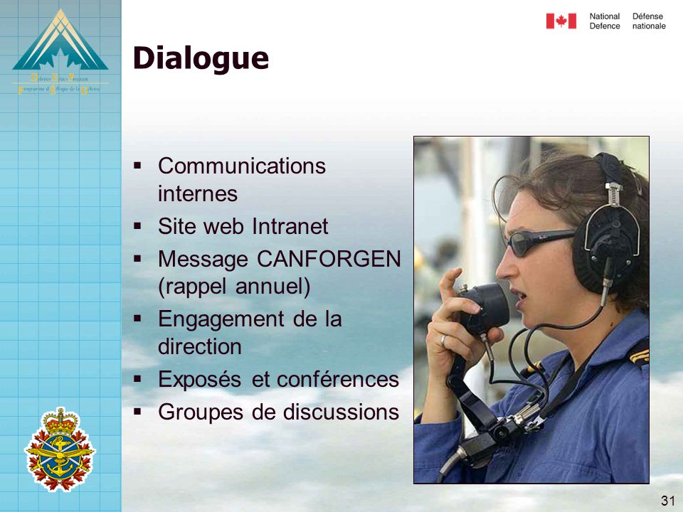 Dialogue Communications internes Site web Intranet