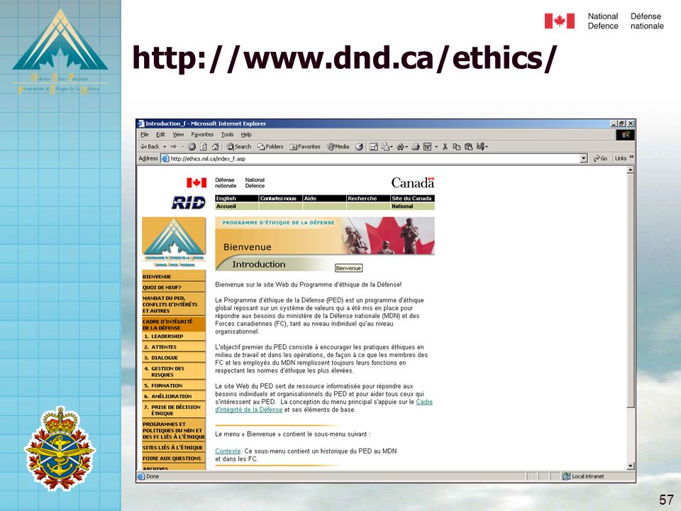 http://www.dnd.ca/ethics/