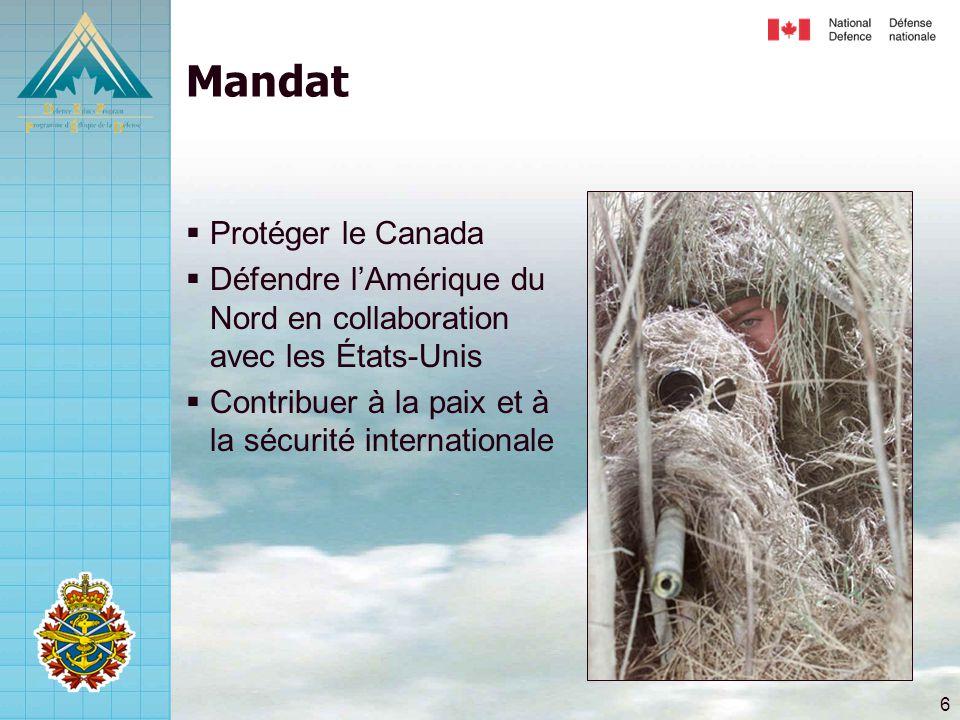 Mandat Protéger le Canada