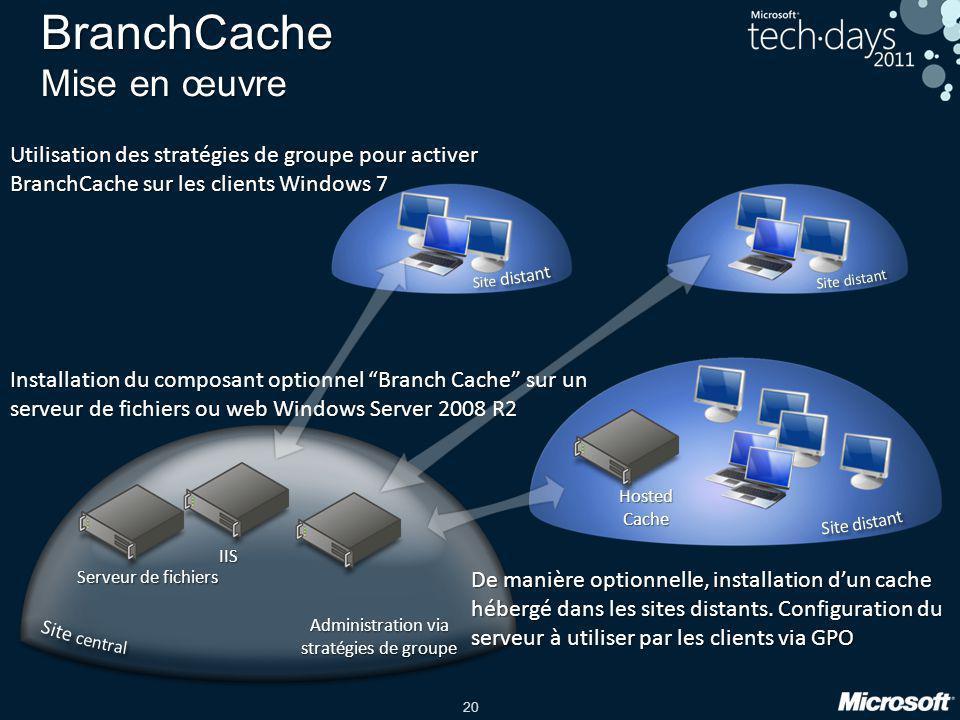 BranchCache Mise en œuvre