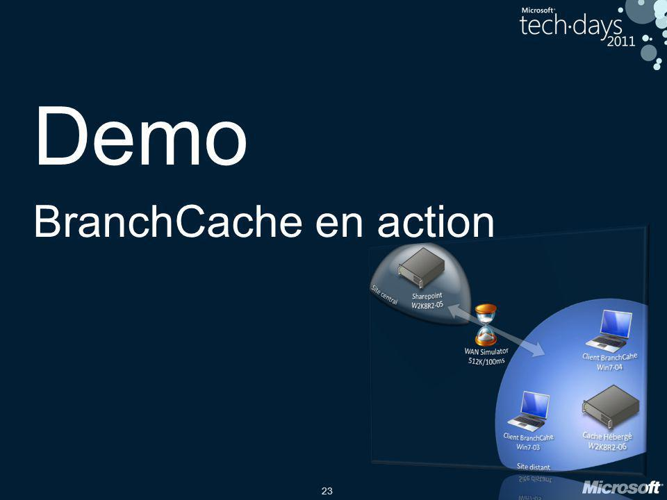 Demo BranchCache en action date