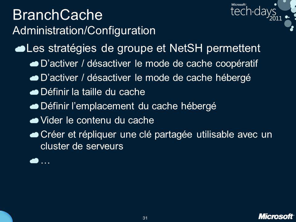 BranchCache Administration/Configuration