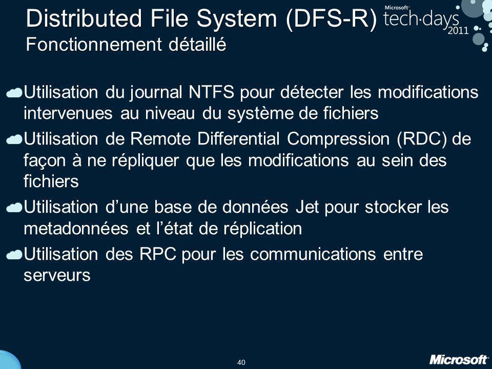 Distributed File System (DFS-R) Fonctionnement détaillé