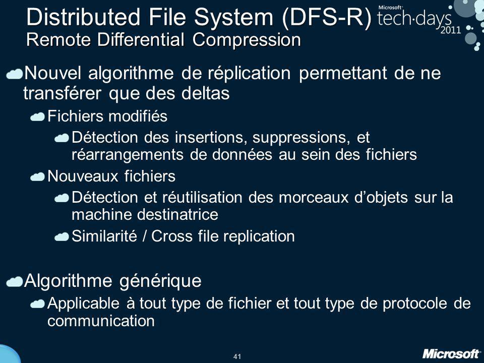Distributed File System (DFS-R) Remote Differential Compression