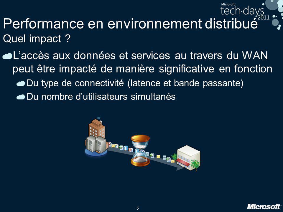 Performance en environnement distribué Quel impact