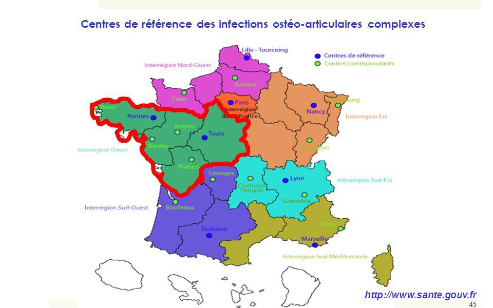 Centres de référence des infections ostéo-articulaires complexes