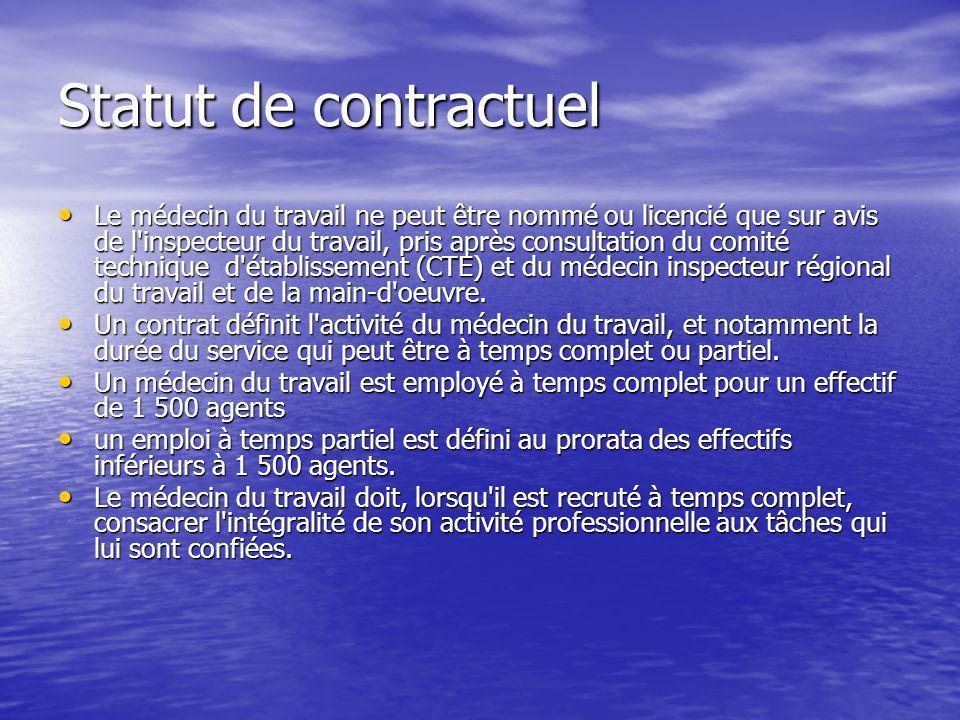 Statut de contractuel