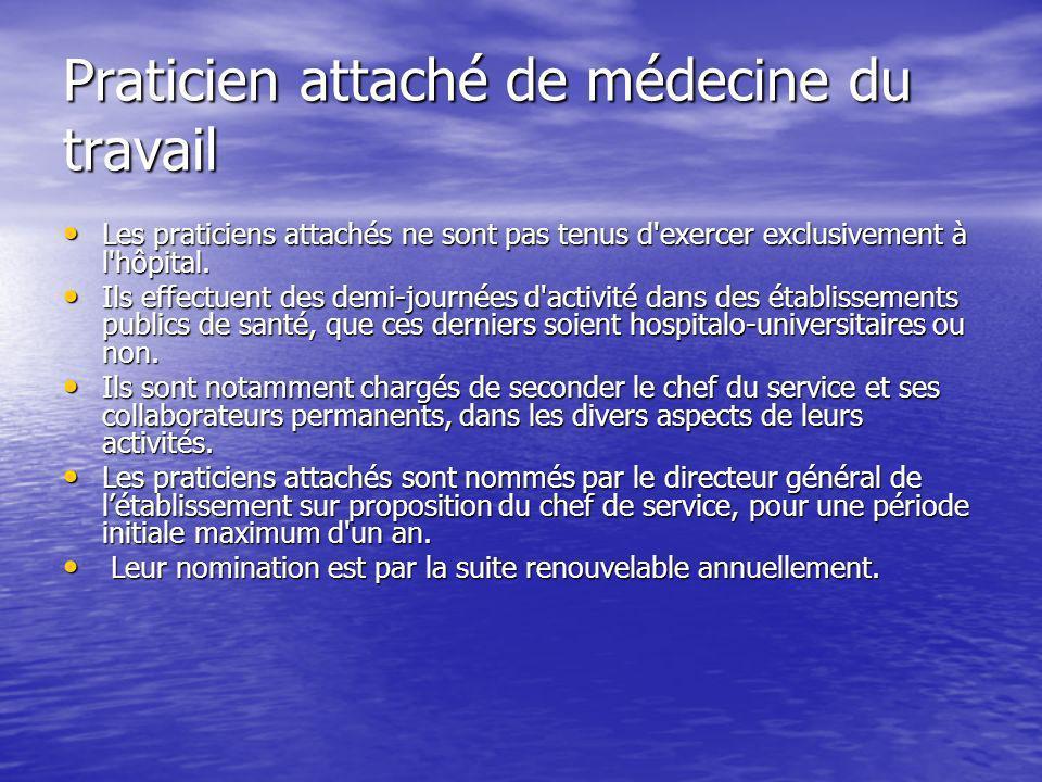 Praticien attaché de médecine du travail