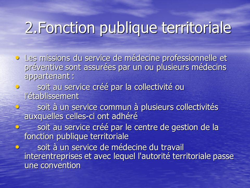 2.Fonction publique territoriale