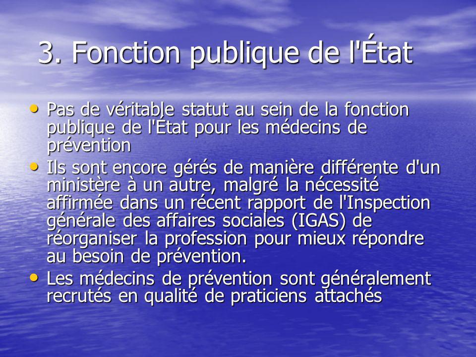 3. Fonction publique de l État