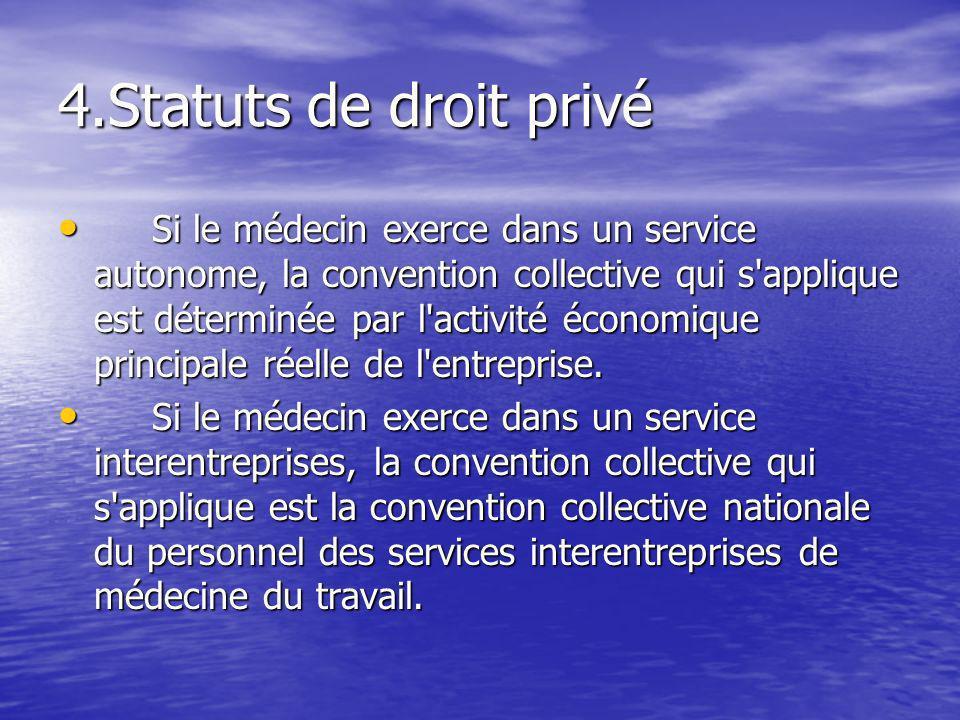 4.Statuts de droit privé