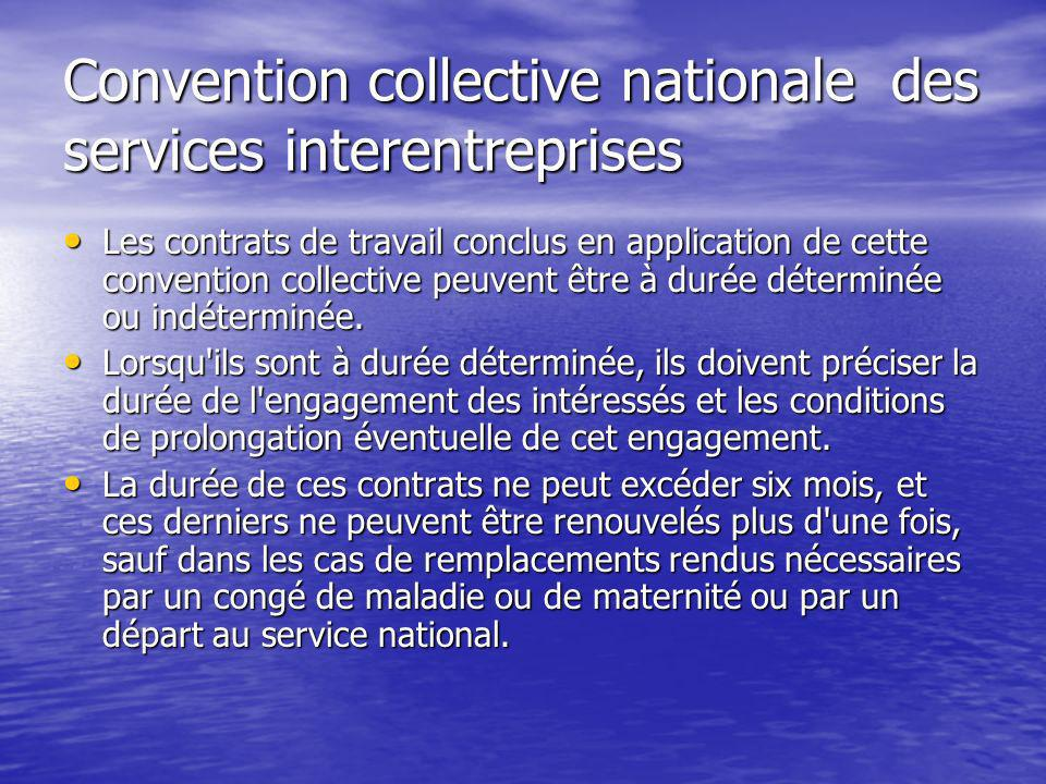 Convention collective nationale des services interentreprises