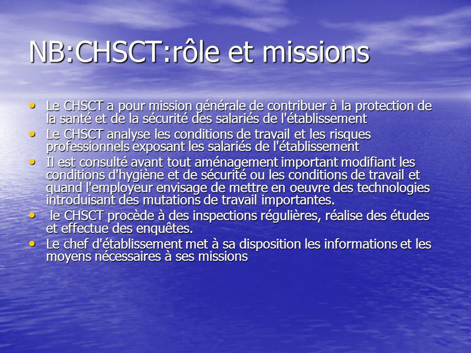 NB:CHSCT:rôle et missions