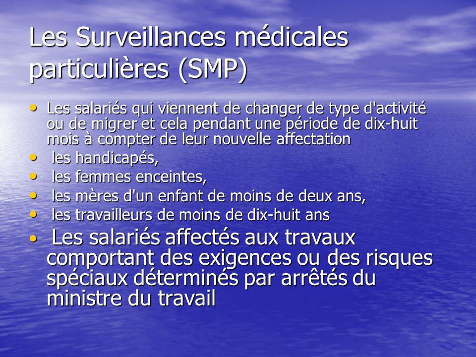 Les Surveillances médicales particulières (SMP)