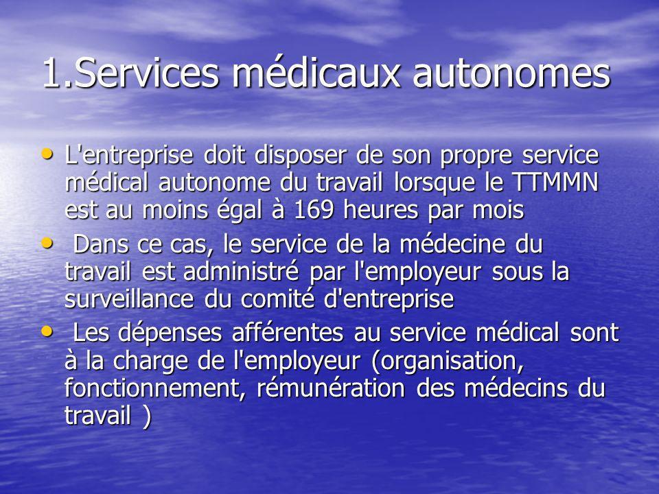 1.Services médicaux autonomes