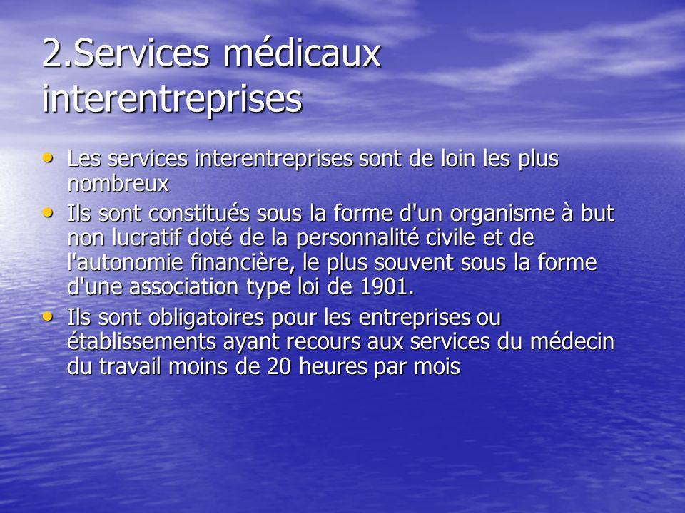 2.Services médicaux interentreprises