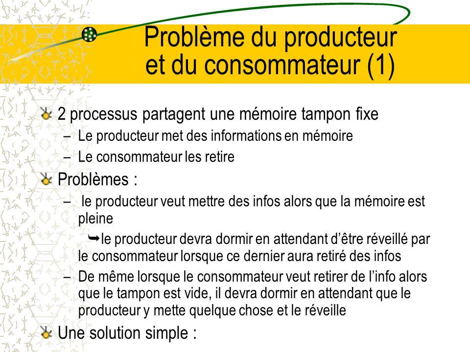 Problème du producteur et du consommateur (1)