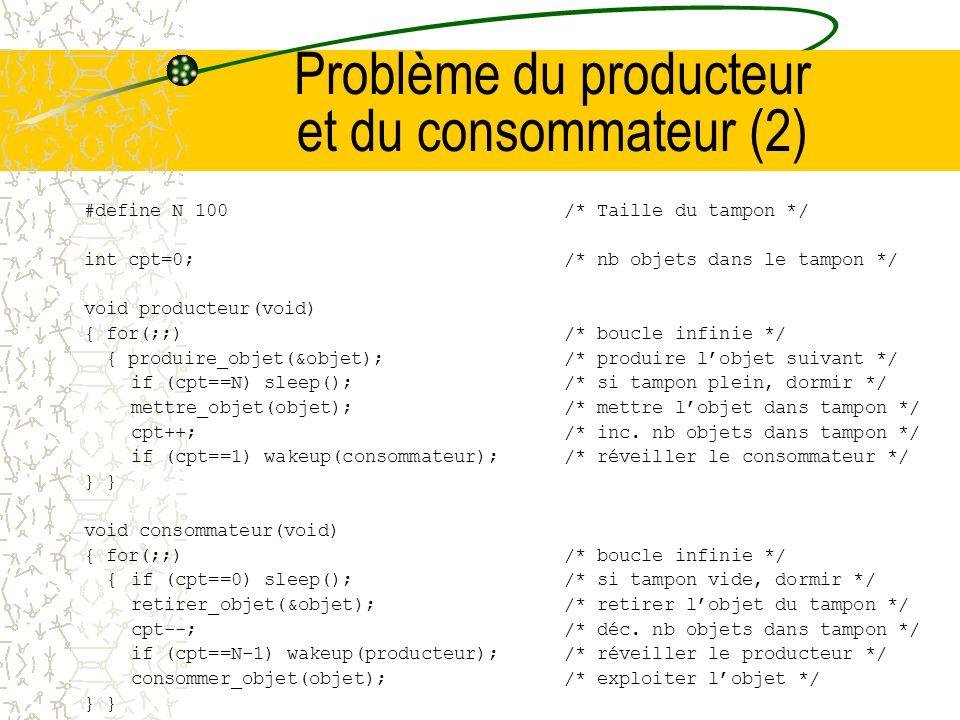 Problème du producteur et du consommateur (2)