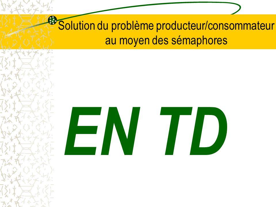 Solution du problème producteur/consommateur au moyen des sémaphores