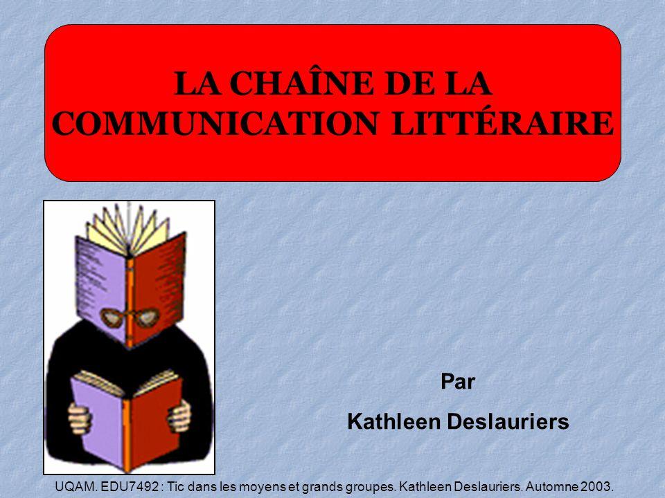 COMMUNICATION LITTÉRAIRE