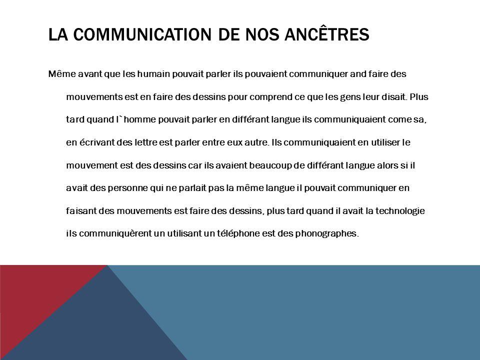 La communication de nos ancêtres