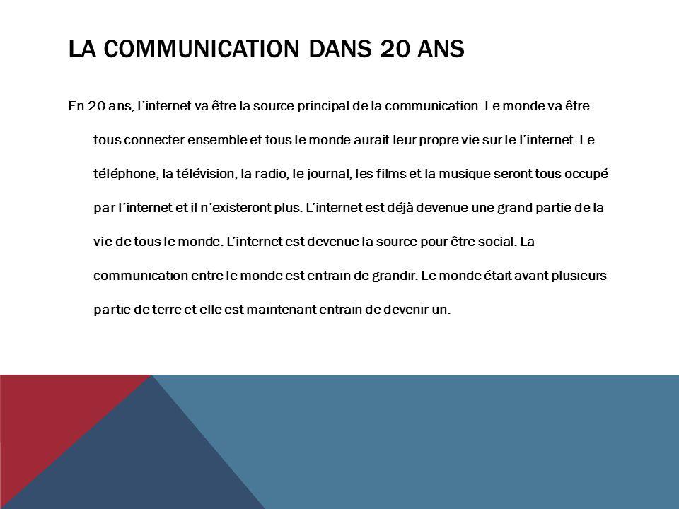 La communication dans 20 ans