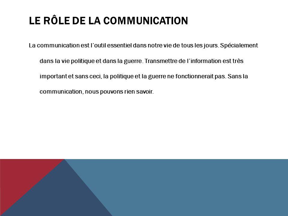 Le rôle de la communication