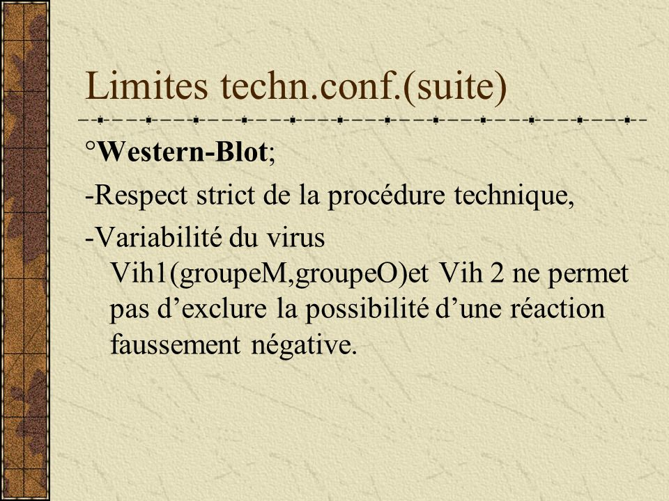 Limites techn.conf.(suite)