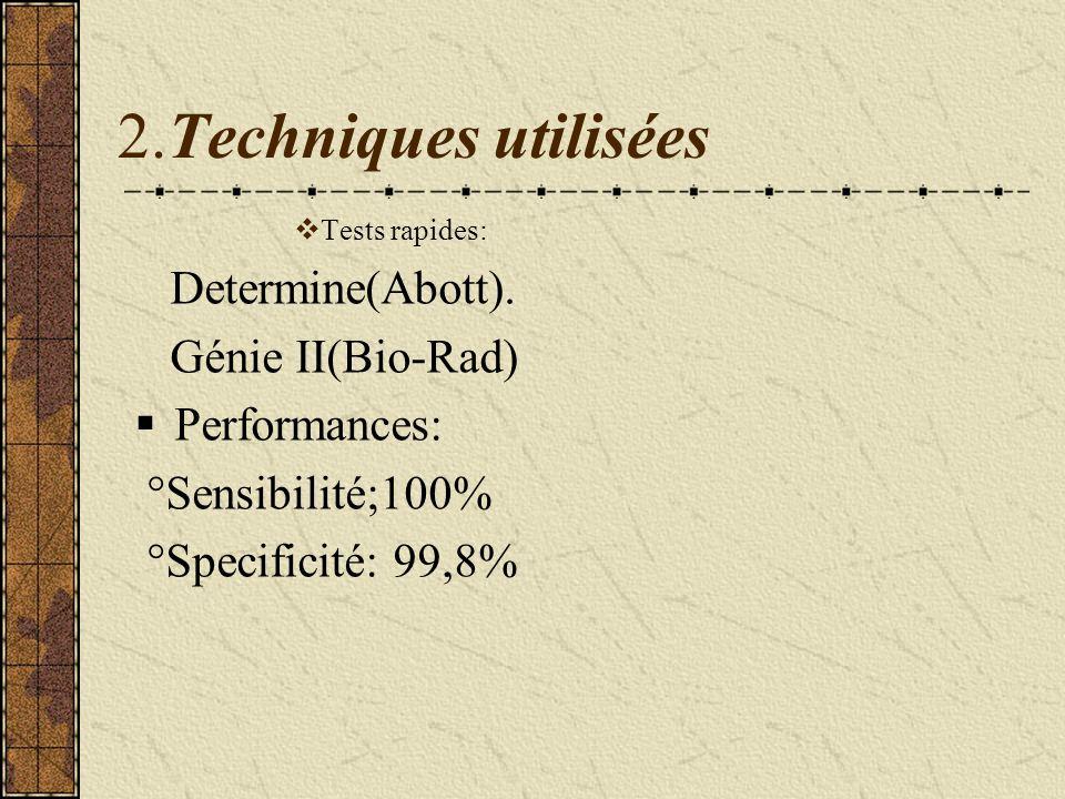 2.Techniques utilisées Determine(Abott). Génie II(Bio-Rad)
