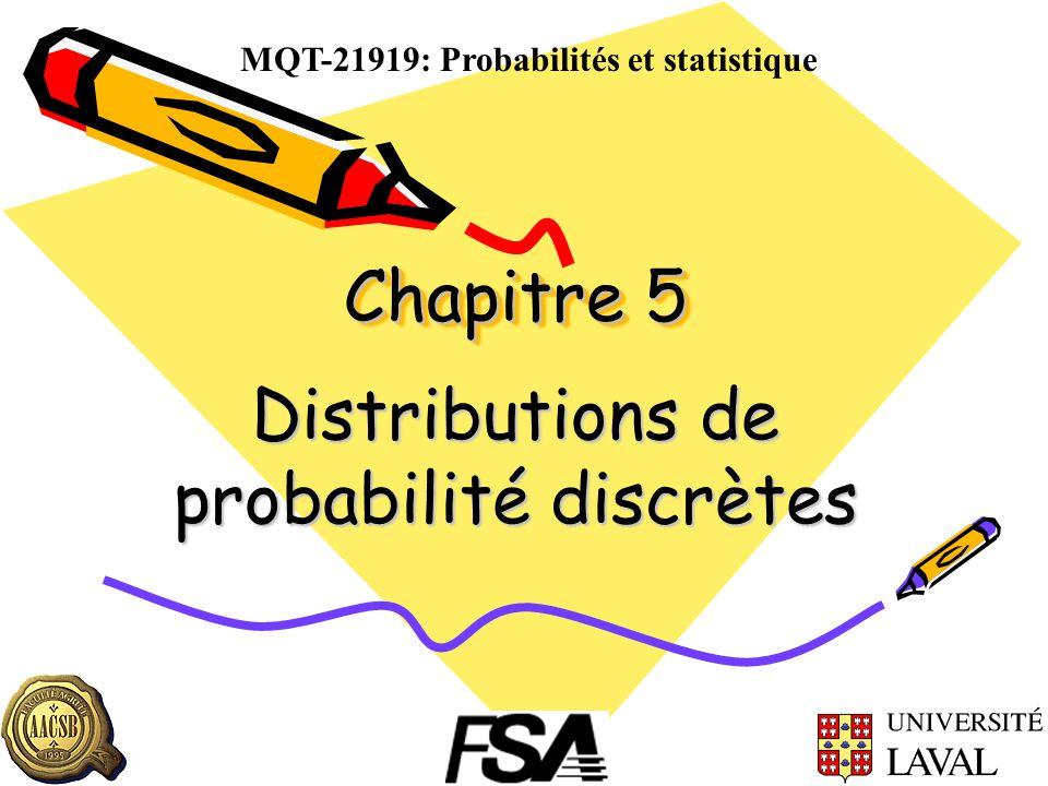 Distributions de probabilité discrètes