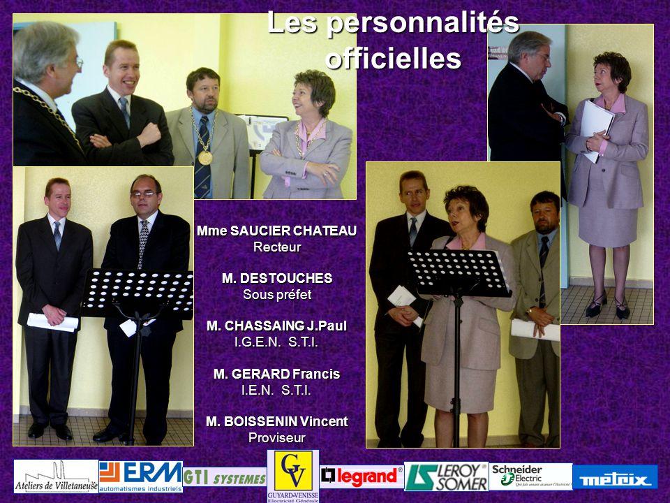 Les personnalités officielles