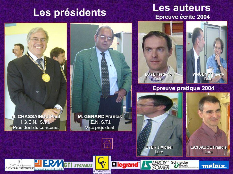Les auteurs Les présidents