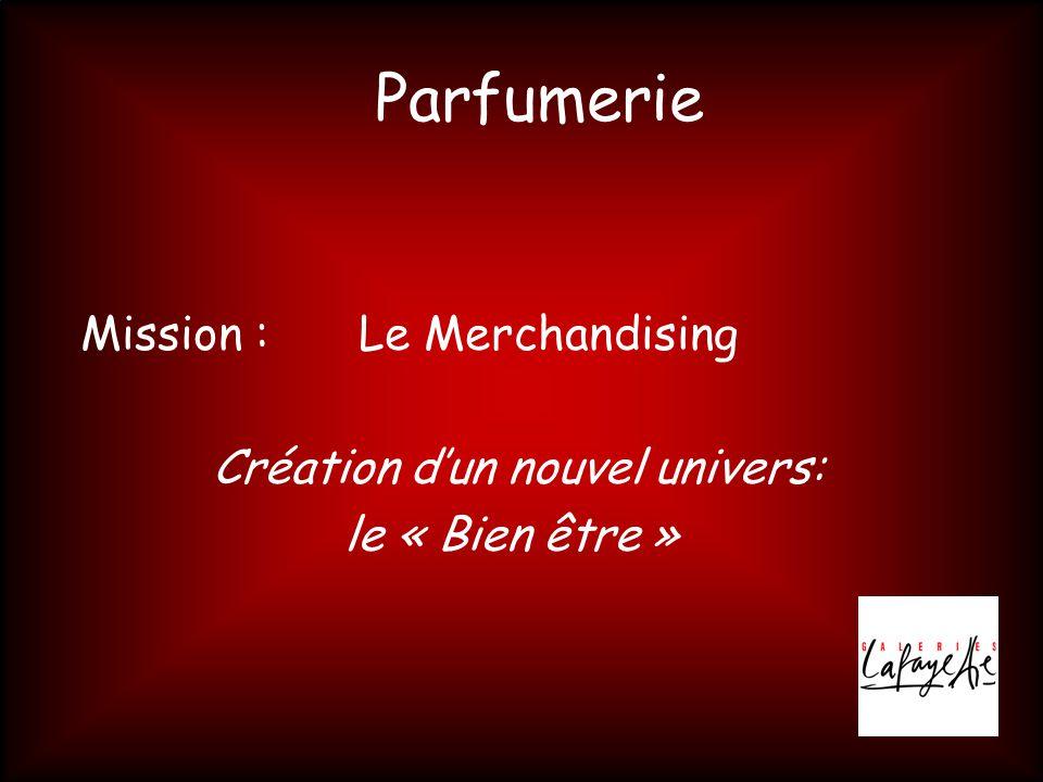Parfumerie Mission : Le Merchandising Création d'un nouvel univers: